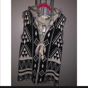 Miss Me brand faux fur hooded vest